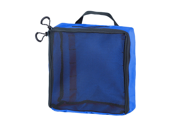 "Mesh Packing Cube - 12 x 12 x 4"" Blue - Blue Ridge Overland Gear"