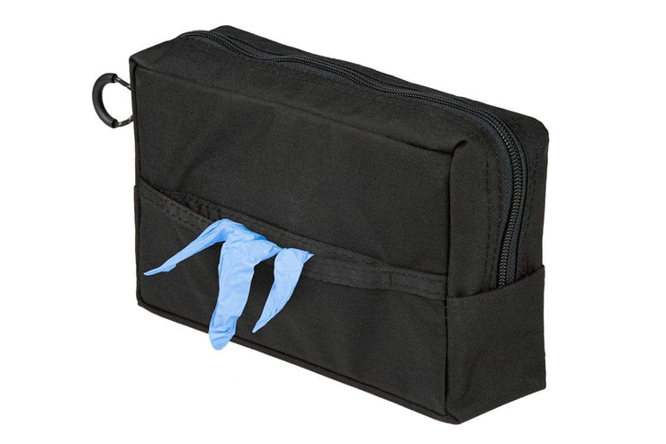 Glove Dispenser Pouch front with gloves - Blue Ridge Overland Gear