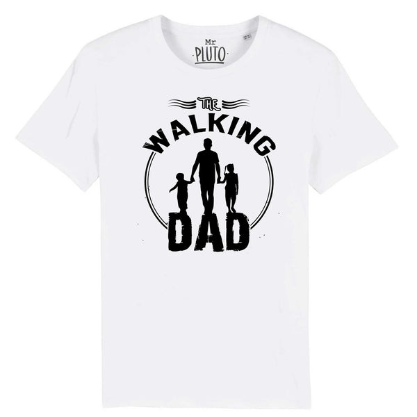 tshirt walking dad blanc
