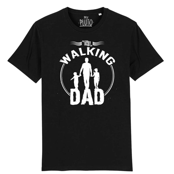 tshirt the walking dad noir
