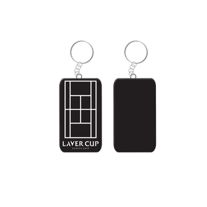 BLACK COURT KEYRING