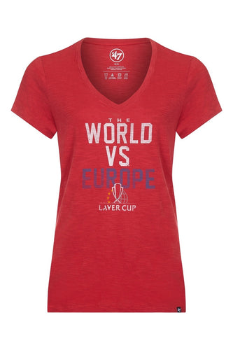 WOMENS WORLD VS EUROPE T-SHIRT 2018