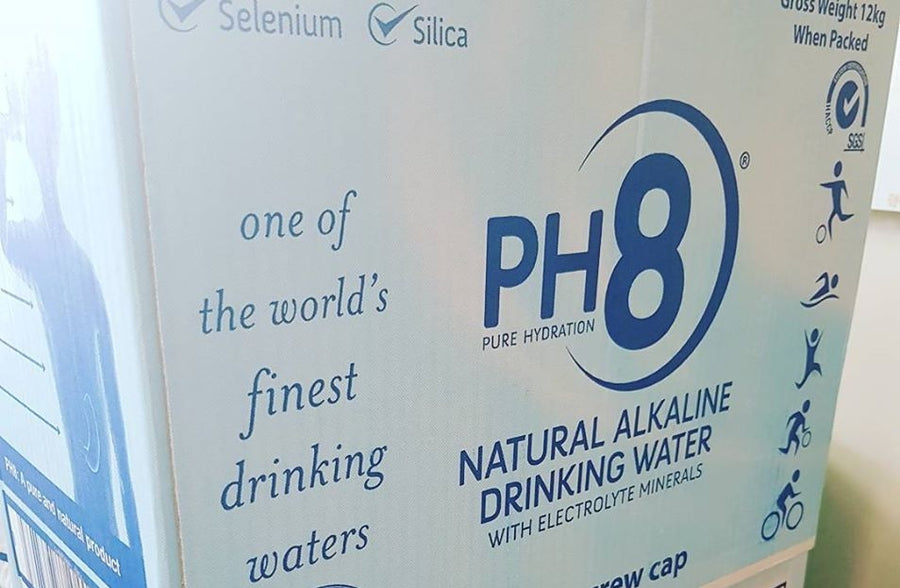 PH8 alkaline water contains essential minerals and antioxidants with known health benefits.