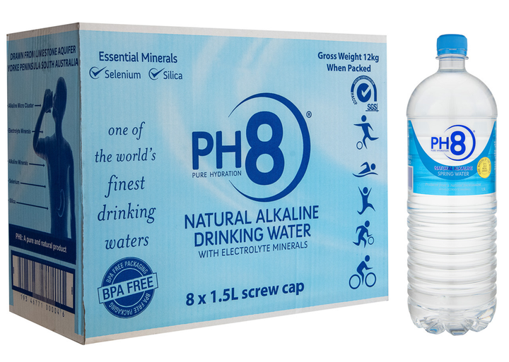 PH8 Natural Alkaline Water 1.5L - Box of 8