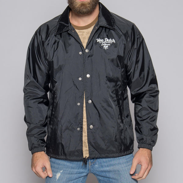 Von Dutch Black Wind Breaker Front