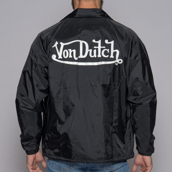 Von Dutch Black Wind Breaker Back
