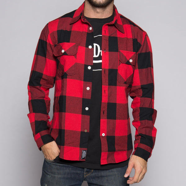 Red/Black Von Dutch Flannel Shirt Front