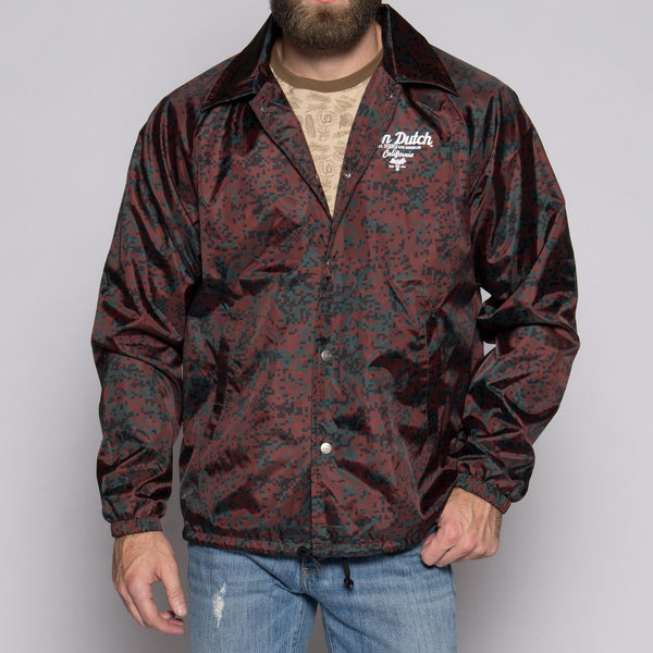 Von Dutch Camo Red Wind Breaker Front