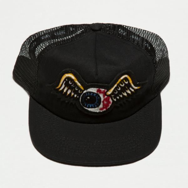 Black Flying Eyeball Trucker Hat 4002