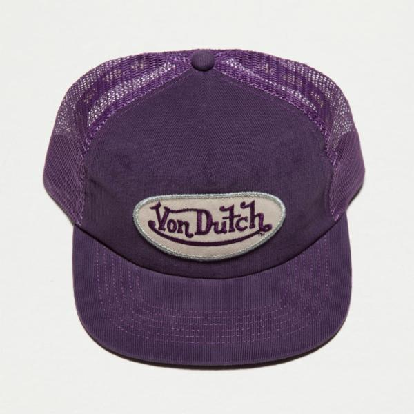 Purple VD Corduroy Trucker Hat 4029