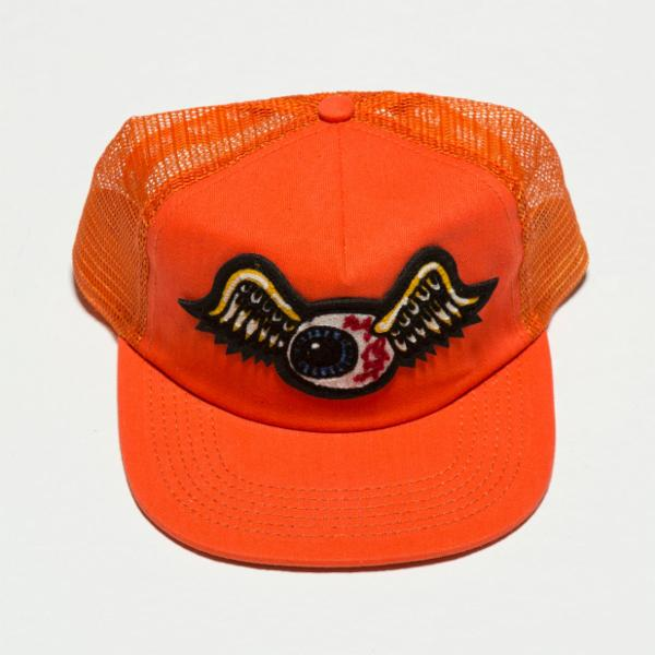 Orange Flying Eyeball Trucker Hat 4000