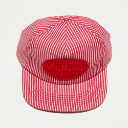Red Stripe Striped Vintage Trucker Hat 4030