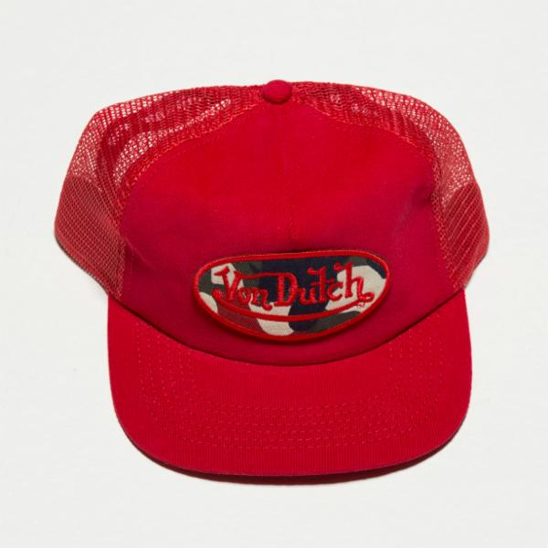 Red Corduroy VD Corduroy Trucker Hat 4025