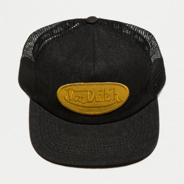 Black Denim Denim Vintage Trucker Hat 4037