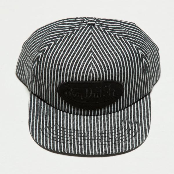 Black Stripe Striped Vintage Trucker Hat 4033