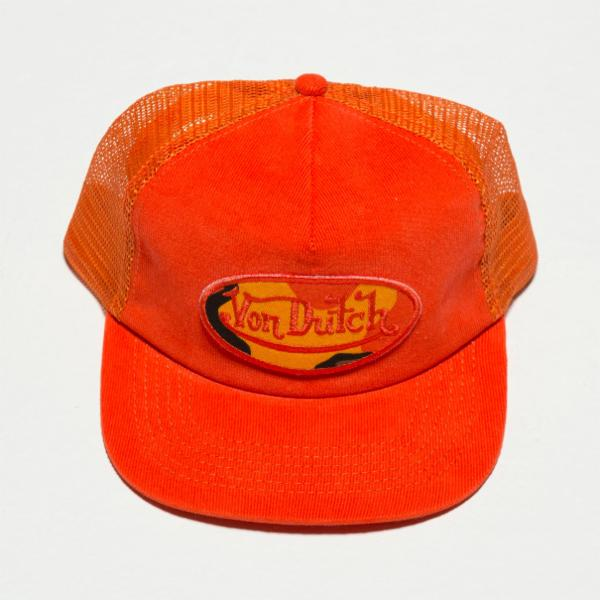 Orange VD Corduroy Trucker Hat 4024