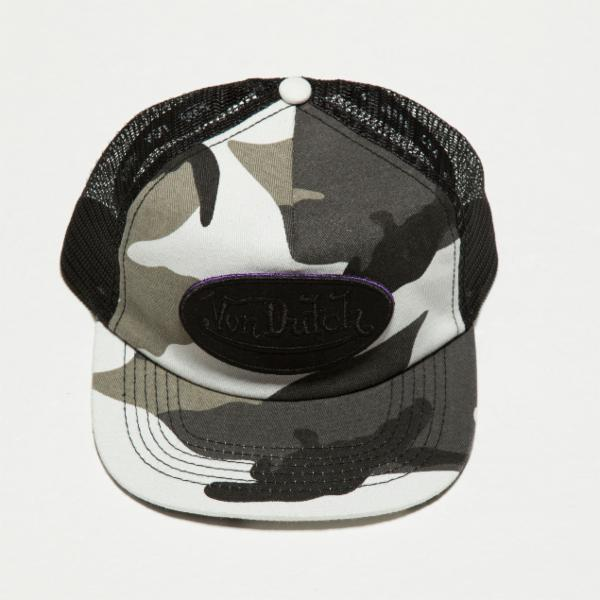 Grey Camo Camo Trucker Hat 4008
