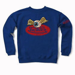 Blueberry VD Oval with Flying Eyeball Crewneck Sweater 600