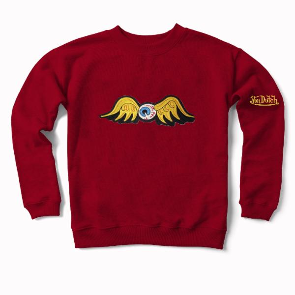 Brick Flying Eyeball Crewneck Sweater 100