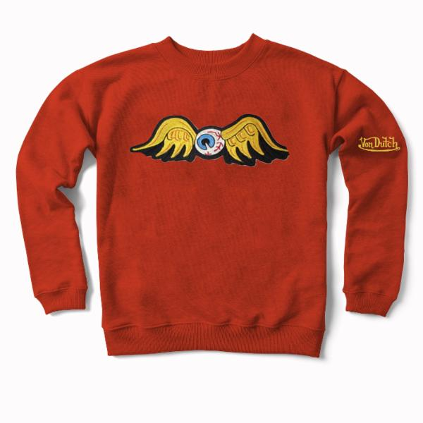 Orange Flying Eyeball Crewneck Sweater 100