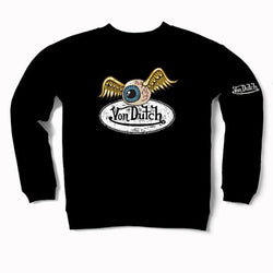 Black VD Oval with Flying Eyeball Crewneck Sweater 600
