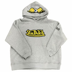 Heather Grey VD Flying Eyeball Hoodie 101