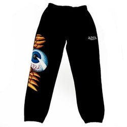 Black Flying Eyeball Joggers 100