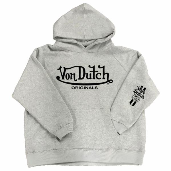 Heather Grey VD Pullover Hoodie 200
