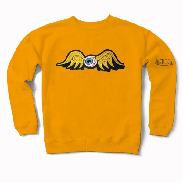 Gold Flying Eyeball Crewneck Sweater 100