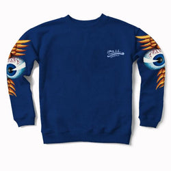 Blueberry Flying Eyeball Crewneck Sweater 400