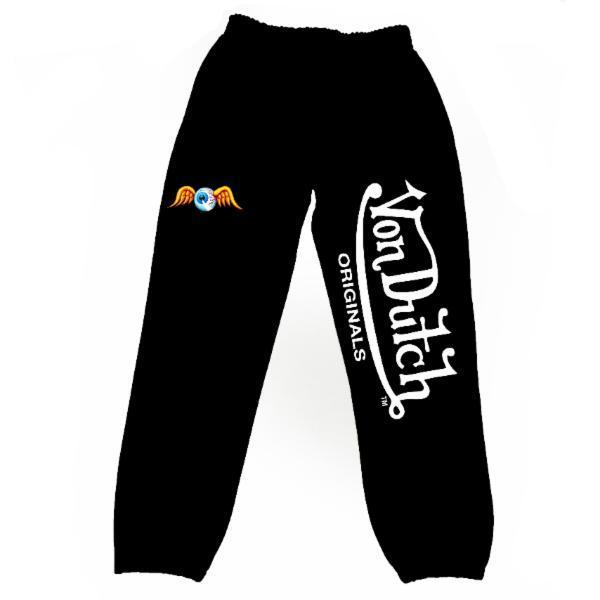 Black VD Flying Eyeball Joggers 200