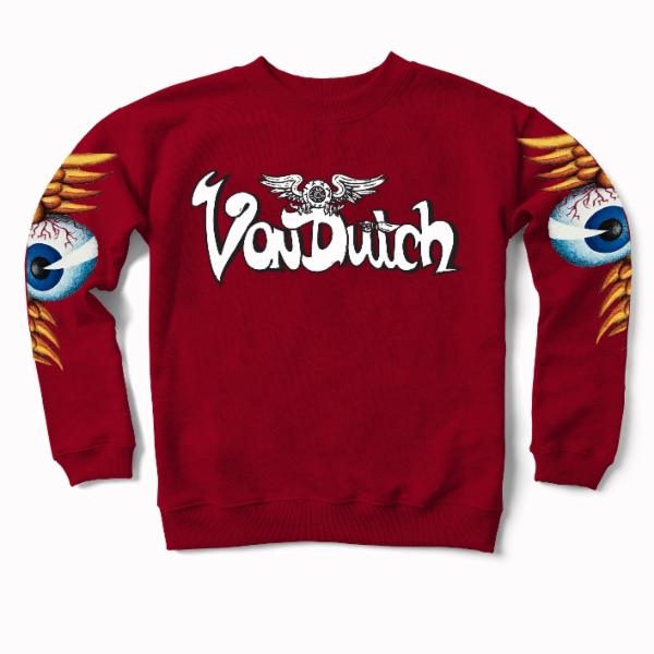Brick VD Flying Eyeball Crewneck Sweater 500