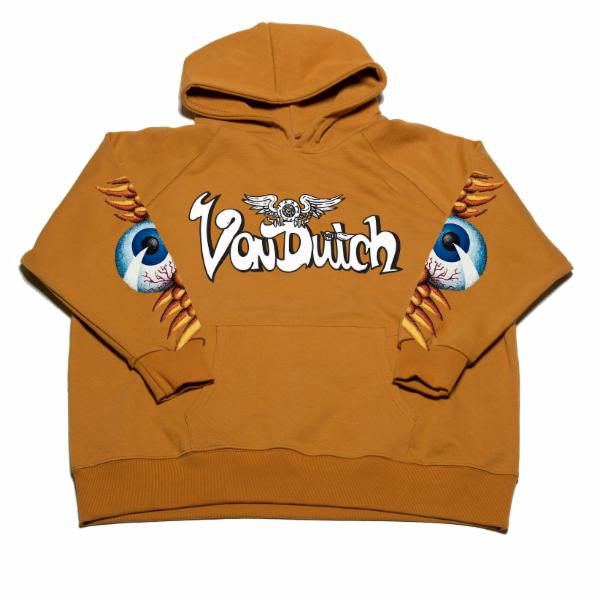 Mustard VD Flying Eyeball Hoodie 100