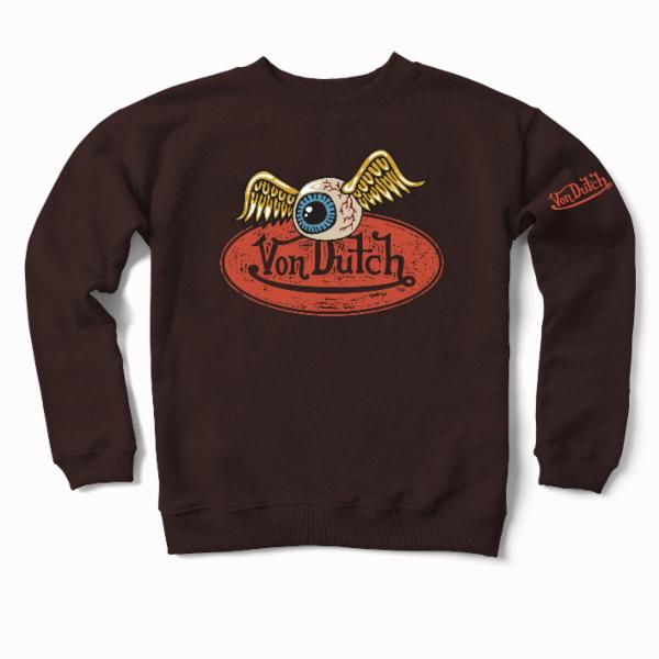 Expresso VD Oval with Flying Eyeball Crewneck Sweater 600