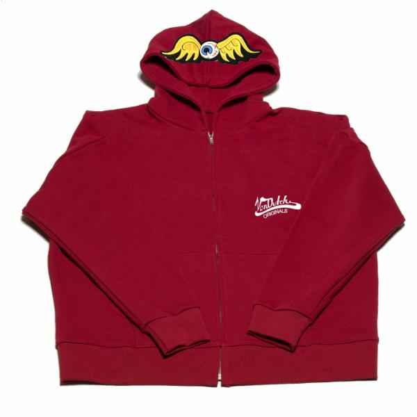 Brick Flying Eyeball Zip Hoodie 500