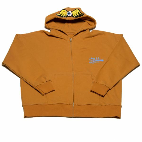 Mustard Flying Eyeball Zip Hoodie 500