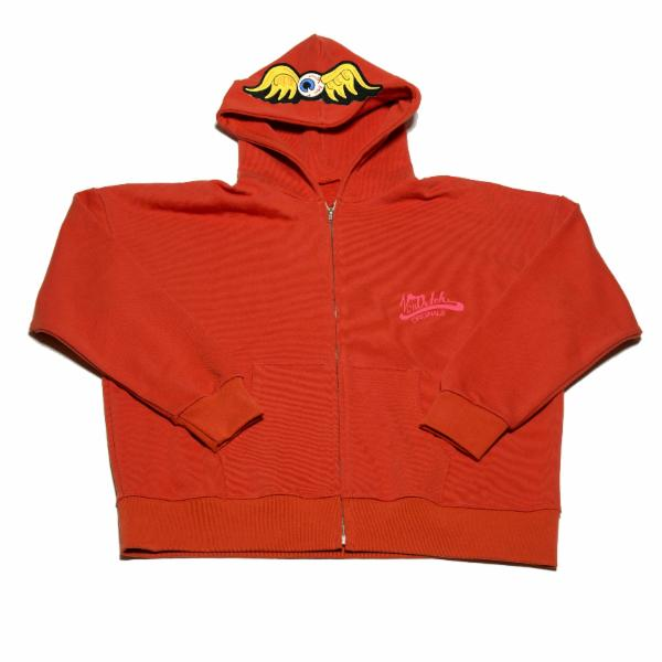 Orange Flying Eyeball Zip Hoodie 500