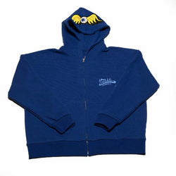 Blue Flying Eyeball Zip Hoodie 500