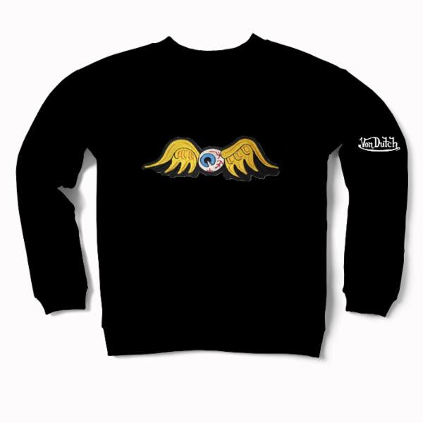 Black Flying Eyeball Crewneck Sweater 100