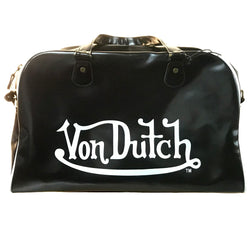 Von Dutch Large Matte Black Bowling Bag 08