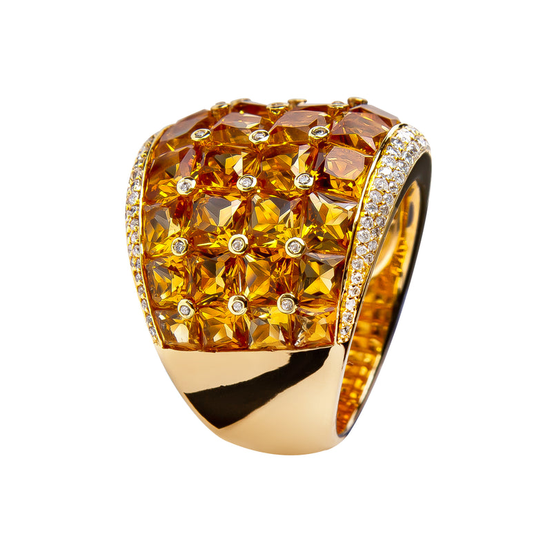 Love RING YELLOW GOLD CITRINE  Oreage-1877 JR-1146