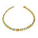 Necklace YELLOW GOLD Multicolor Gems Cnn-0005-1