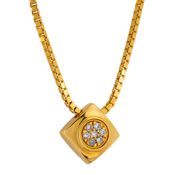 Pendant Yellow Gold  Diamonds Cnp-0196-14
