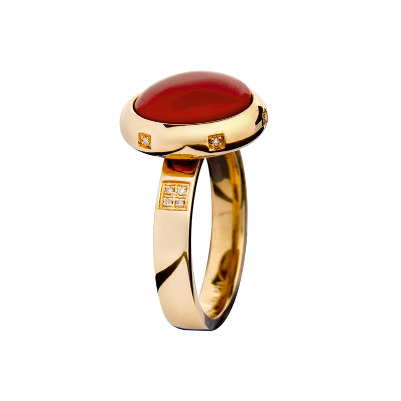 RING YELLOW GOLD Coral LCD-3111/48