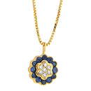 Pendants yellow gold Sapphire and Diamonds Cnp-0026-2