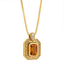 Pendant   Gold citrine and Diamonds Cnp-0118/29