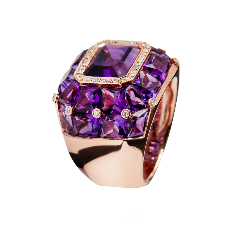 RING Rose GOLD Amethyste JR-1114-29