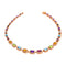 Necklace Rose GOLD Multicolor Gems Cnn-0005-2