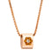 Pendant Flower Rose Gold Citrine & Diamond