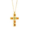 Pendants yellow gold Cross  Citrine Peridot Diamonds Cnp-0603-13